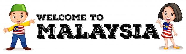 Malaisien, garçon, fille, à, salutation, signe
