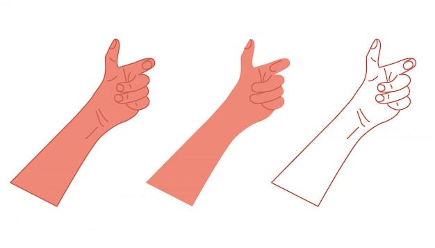 Mâle main isolée. vecteur