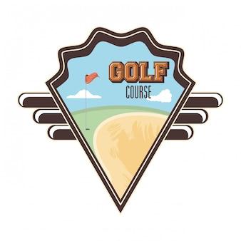 Malédiction de golf avec piège de sable
