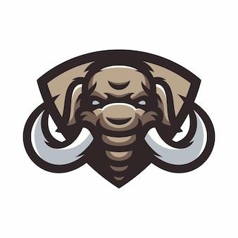 Mammouth - vecteur logo / icône illustration mascotte