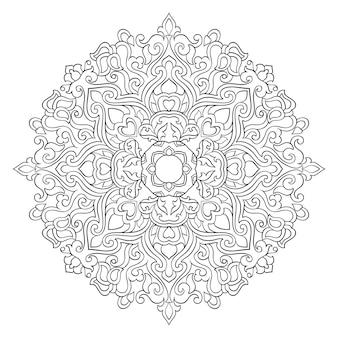 Mandala abstrait en filigrane. ornement ethnique oriental. élément de conception.