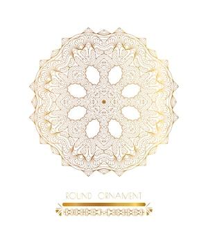 Mandala art doré