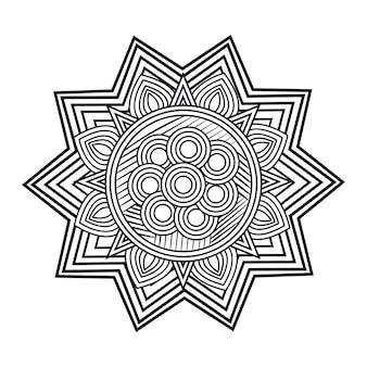 Mandala art isolé icône vector illustration design