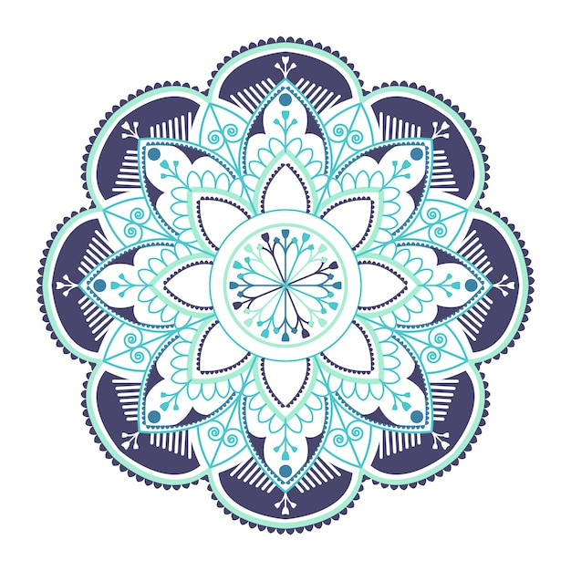 Mandala bleu indien