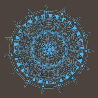 Mandala bleue