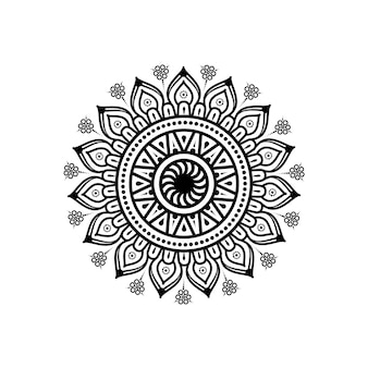 Mandala circulaire à fleurs