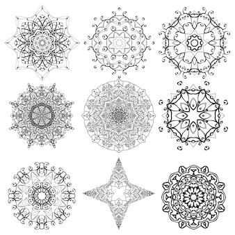 Mandala circulaire symétrique.