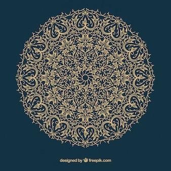 Mandala classique avec style ethnique