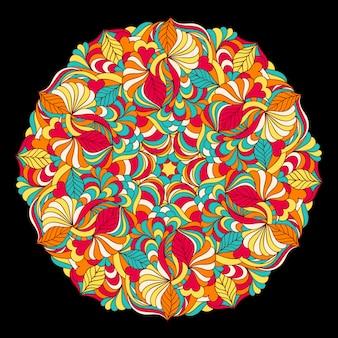Mandala coloré abstrait