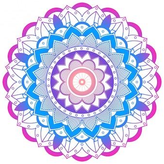 Mandala coloré sur blanc