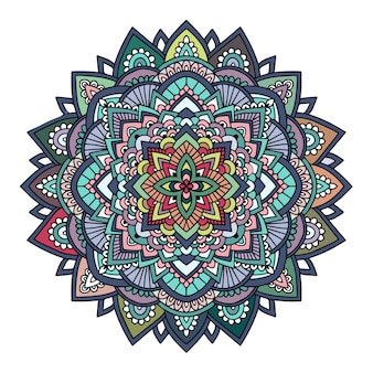 Mandala coloré dessiné à la main