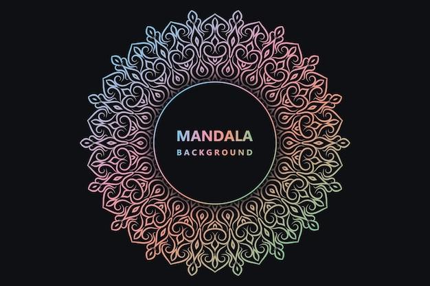 Mandala coloré fond floral arabesque tissu mandala prime vecteur