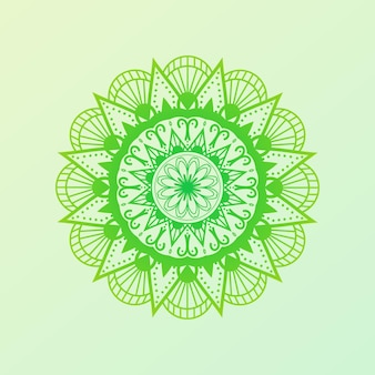 Mandala coloré oriental dessiné à la main