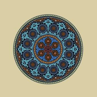 Mandala coloré - ornement rond