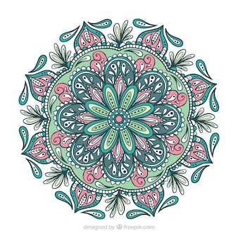 Mandala coloré avec des ornements