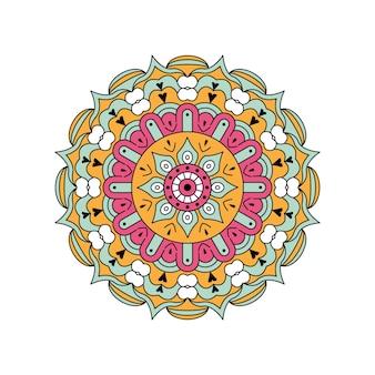 Mandala coloré de vecteur