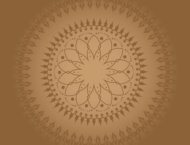 Mandala avec une combinaison de dégradés de brun