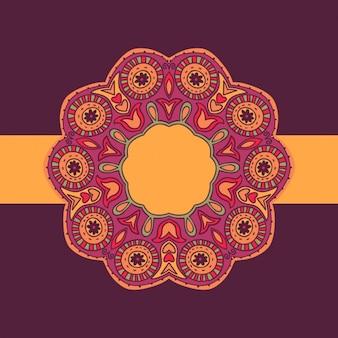 Mandala conception d'étiquettes