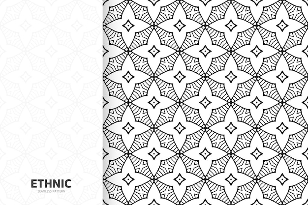 Mandala de conception sans semelle motif ethnique tribal