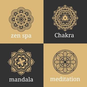 Mandala Conçoit Collection Vecteur gratuit