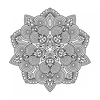 Mandala de contour créatif
