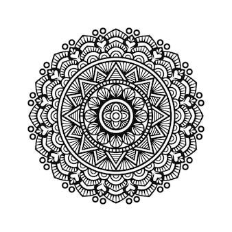 Mandala de contour pour livre de coloriage