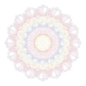 Mandala de couleur arc-en-ciel