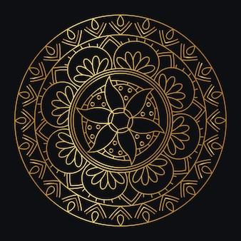 Mandala dégradé doré de vecteur
