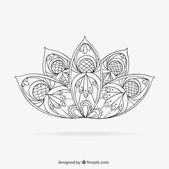 Mandala dessinés à la main
