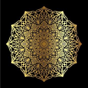 Mandala doré classique