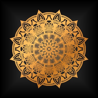 Mandala doré de luxe