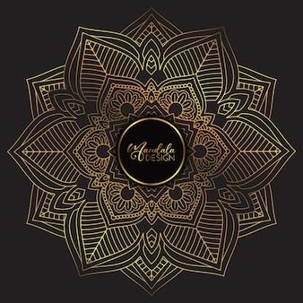 Mandala doré et noir