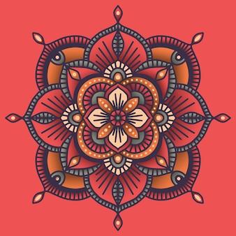 Mandala ethnique floral coloré ornemental