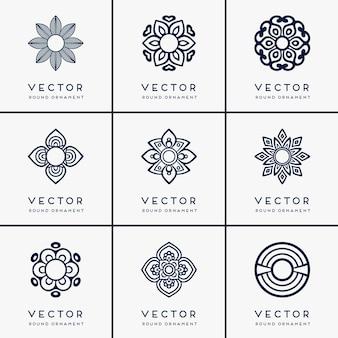 Mandala ethnique vectorielle