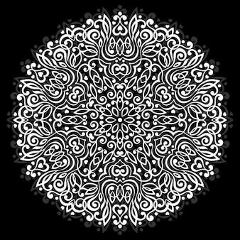 Mandala fleur abstraite. élément ethnique décoratif pour la conception.