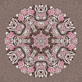 Mandala fleur abstraite.