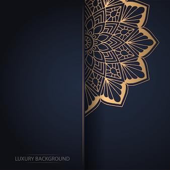 Mandala fleur d'or sur fond sombre
