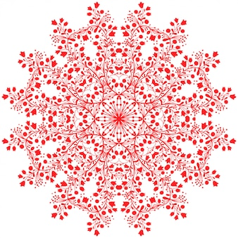 Mandala fleur rouge