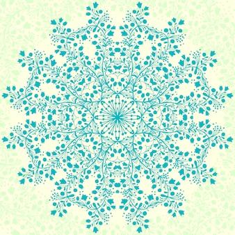 Mandala fleur vert