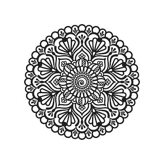 Mandala fleuri en illustration de conception de modèle circulaire