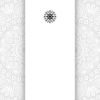 Mandala de fleurs. fond de mandala simple avec espace de copie.