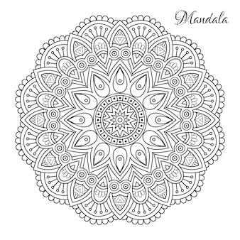 Mandala de fleurs.