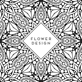 Mandala floral créatif