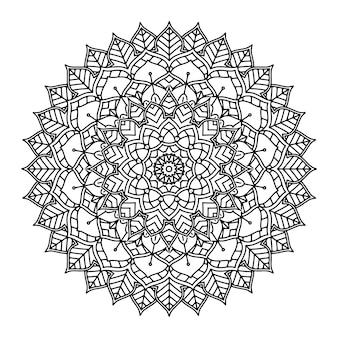 Mandala floral décoratif