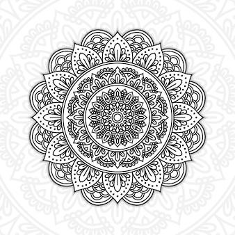 Mandala floral noir et blanc