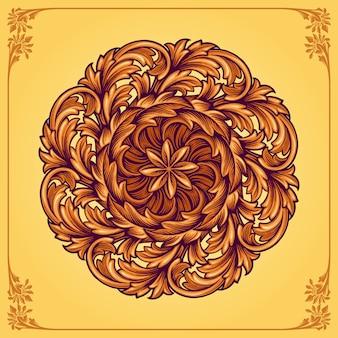 Mandala floral ornemental de luxe