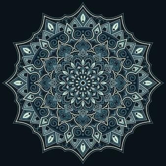 Mandala de fond abstrait