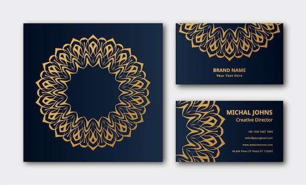 Mandala de fond de décoration de carte de visite