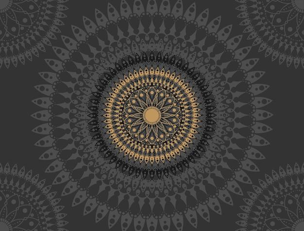 Mandala sur fond noir