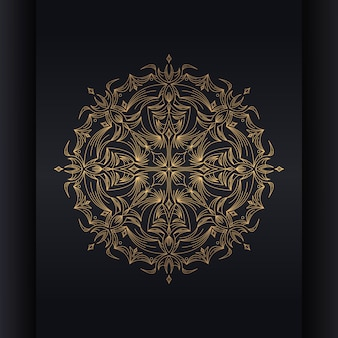 Mandala fond d'or